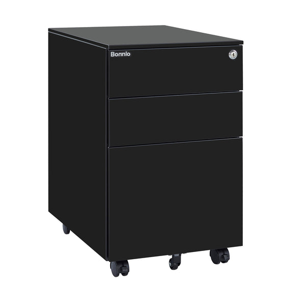 Bonnlo Mobile File Cabinet with Lock