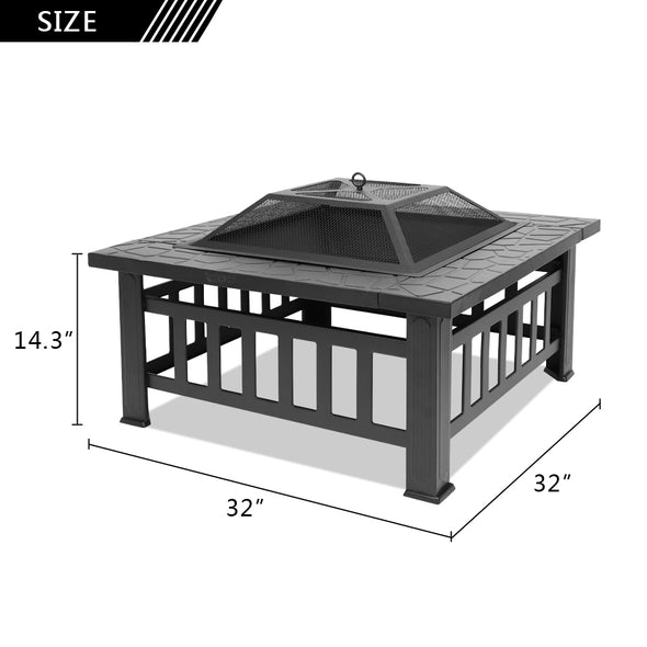 "Bonnlo 32"" Outdoor Fire Pit"