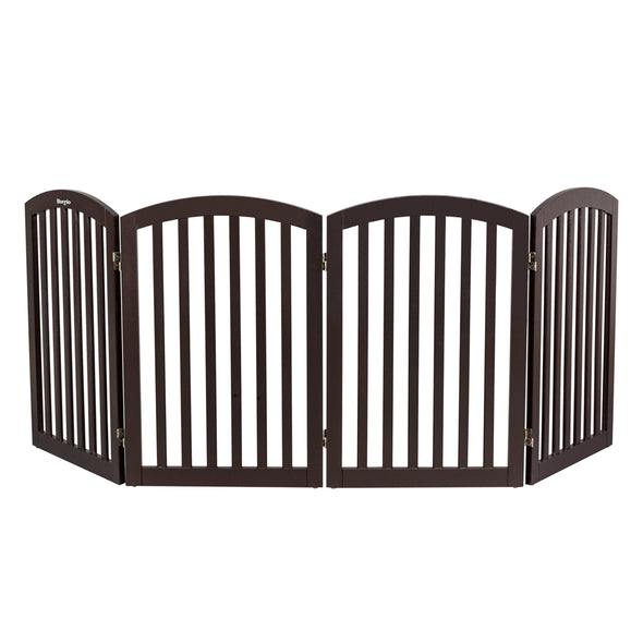 "Bonnlo 82"" Wide Wooden Folding Pet Gate"