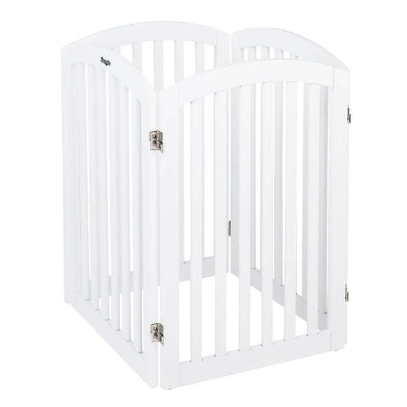 "Bonnlo Free Standing 30"" Tall Wooden Dog Gates"