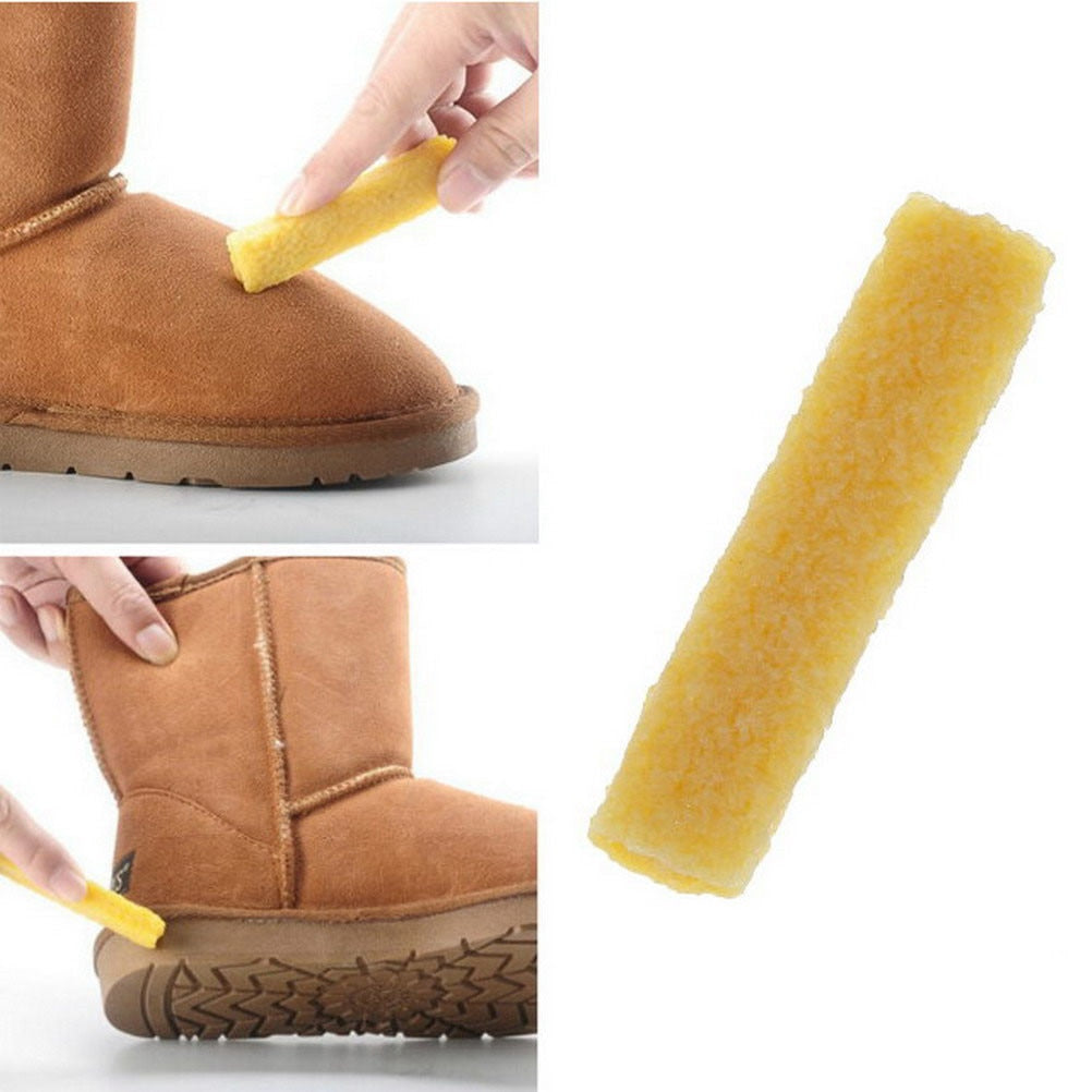 Shoe Brush Faux Suede Rubber