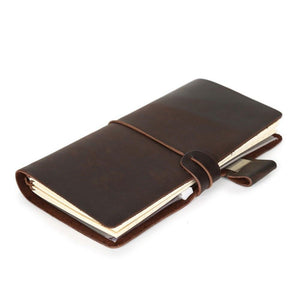 Diary leather notebook