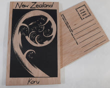 Load image into Gallery viewer, On1/45 Koru Wooden Postcard