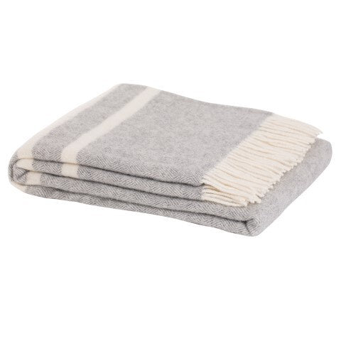 Ragland Wool Throw FOG 100% NZ Wool
