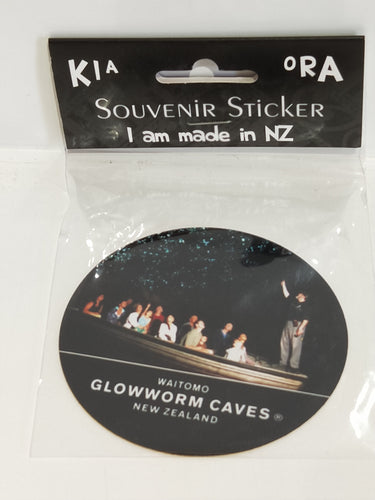 *Sticker Round with Waitomo Glowworm Cave
