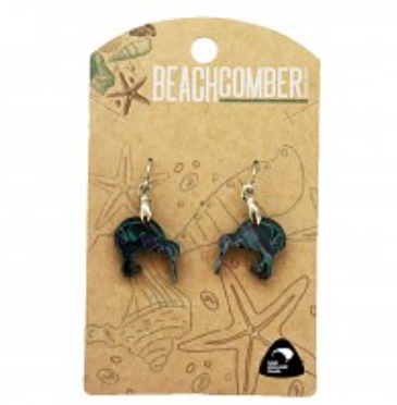 BCJ1525E Paua Earrings Sml Kiwi