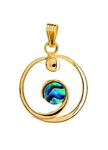 GP590 Paua Gold Eternity Pendant