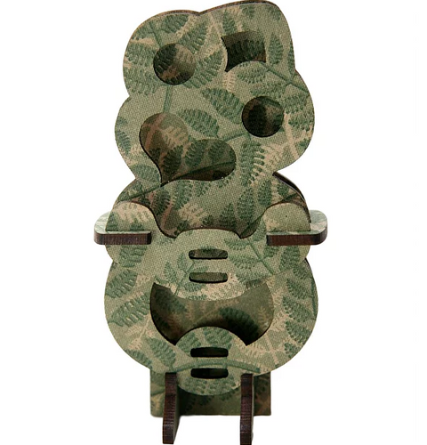 Tiki green fern wooden model