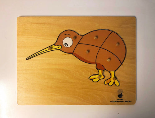 Puzzle Kiwi wooden with WGC logo