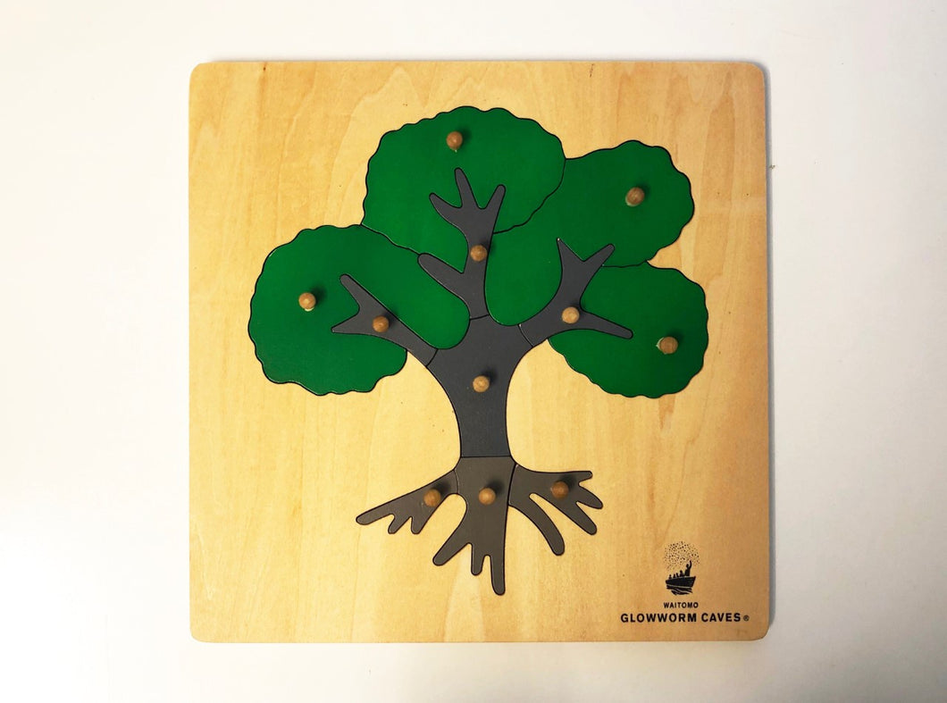 Puzzle Tree wooden with WGC logo