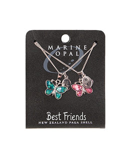 SET118 Necklace Best Friend Butterfly set