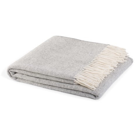 Hahei Wool Throw FOG 100% NZ Wool