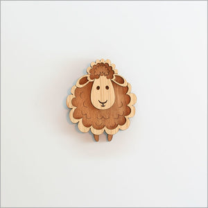 Bamboo Magnet - Sheep
