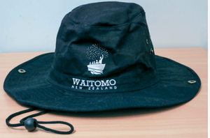Black Waitomo Glowworm Caves sun hat