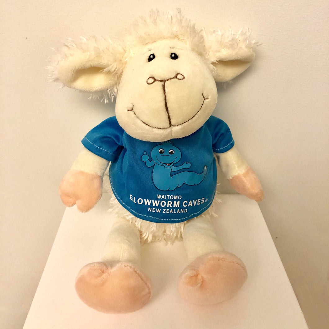 Waitomo Glowworm Sheep with blue tee