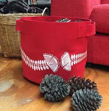 Pohutukawa Red 7 Gallon Felt planter
