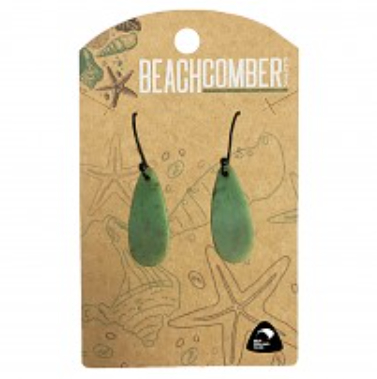BCJ404E NZ Pounamu Teardrop Earrings