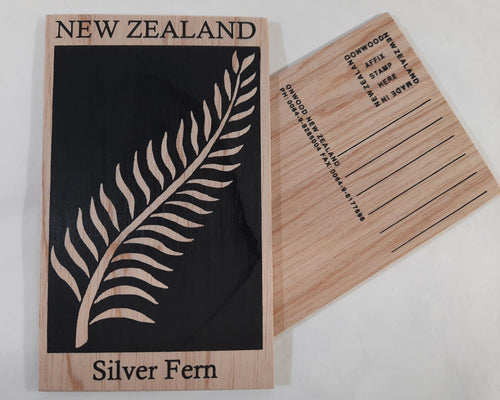 On1/48 Silverfern Wooden Postcard