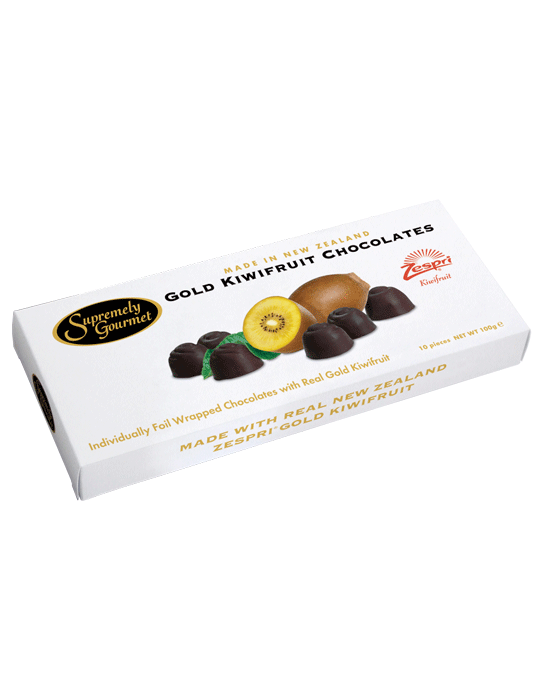 Gold Kiwifruit Chocolates 10pce Gift box