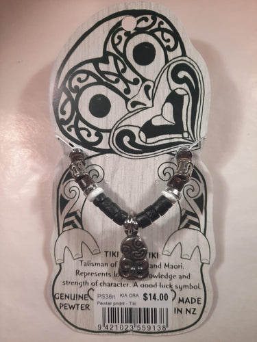 PS38n - Tiki Pewter pndnt with cord
