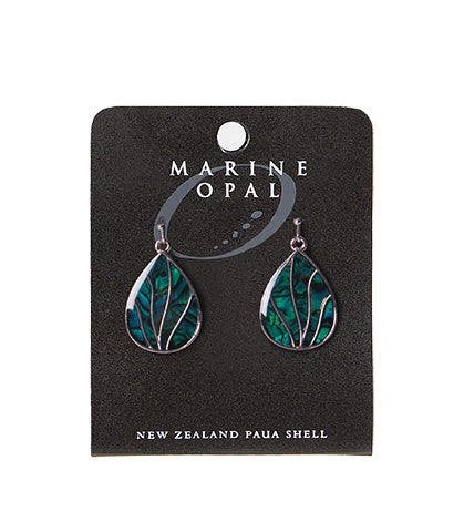 MOE115 Earring Veins Teardrop