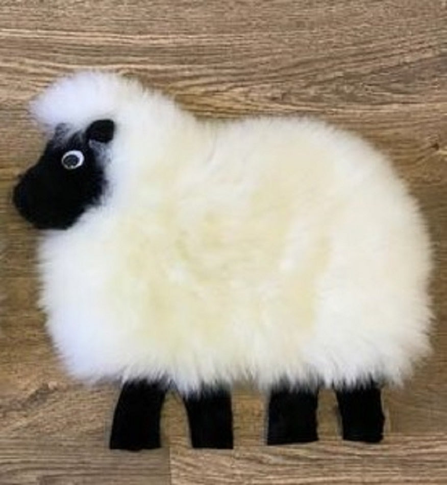 SCUSHLBLLG Sheep Cushion Black Face - Large