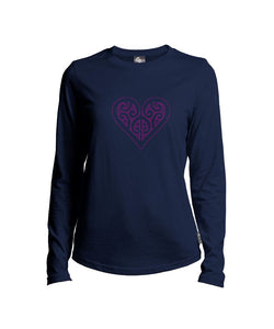 MT37083 Ladies Koru Heart Long Sleeve Merino