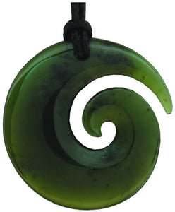 W50 Koru Polished Greenstone Pendant