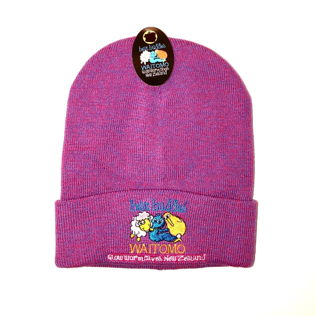 Best Buddies Beanie - Plum Marl