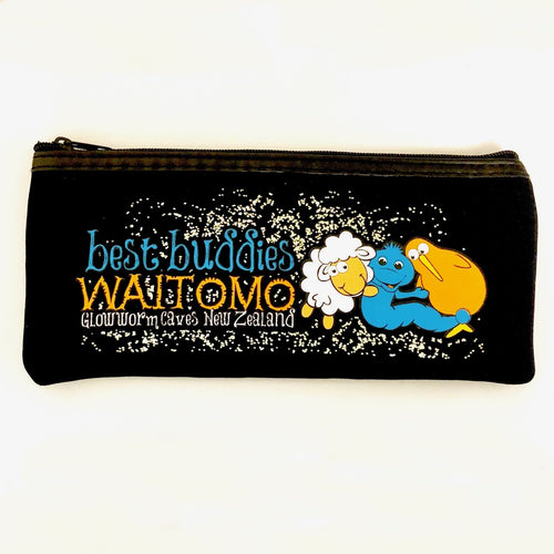 Best Buddies Glow in the Dark Pencil Case - Black