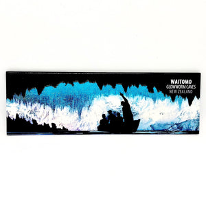 Waitomo Glowworm Cave glitter fridge magnet