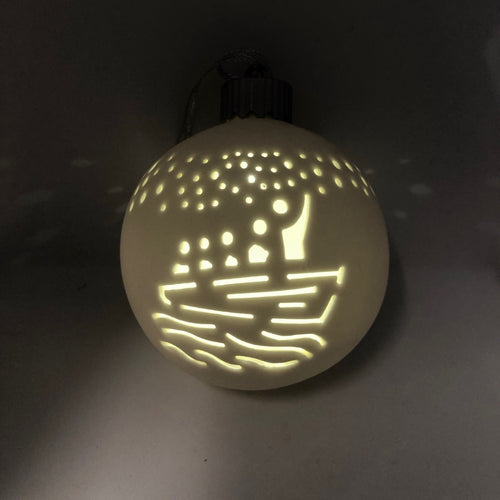 LED Ceramic Glowworm Cave Bauble Decoration