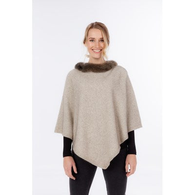 NB686 Possum Trim Poncho