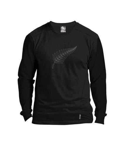MT57098 Mens Silverfern Long Sleeve Merino