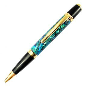 PN300 Gold Band & Tip Paua Pen