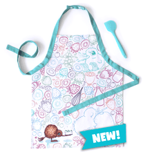 Load image into Gallery viewer, Kuwi Kids Apron & Silicone Spatula