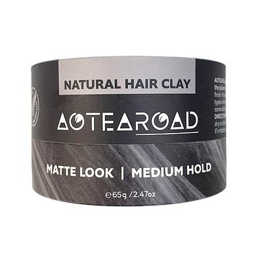 Natural Medium Hold Hair Clay - Vanilla 65g