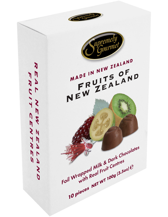 Fruits of New Zealand Chocolate - 10pce Upright