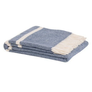 Ragland Wool Throw NAVY 100% NZ Wool