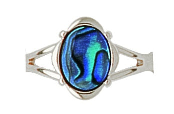 PO920 Paua Palladium Oval Ring