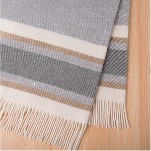 106 Ohope Wool throw Caramel 100% NZ Wool