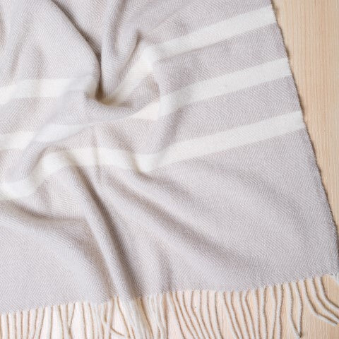 Ragland Wool Throw FAWN 100% NZ Wool