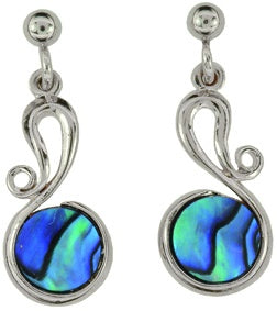 PE151  Paua Palladium Antique Road Earrings
