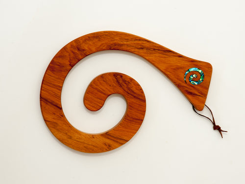 Rimu Koru Single Tablemat - Paua Inlay