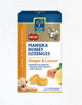 Manuka Honey Lozenges Ginger&Lemon