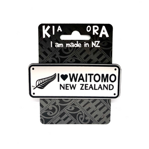 I Love Waitomo Number Plate Magnet