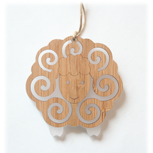Load image into Gallery viewer, Bamboo Ornament - Sheep