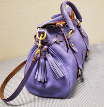 Load image into Gallery viewer, Dooney and Bourke Purple Pebbled Handbag