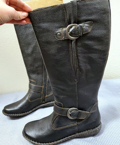 B.O.C. Tall Black Leather Riding Boots