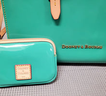 Load image into Gallery viewer, Turquoise Dooney and Bourke Patent Leather Purse